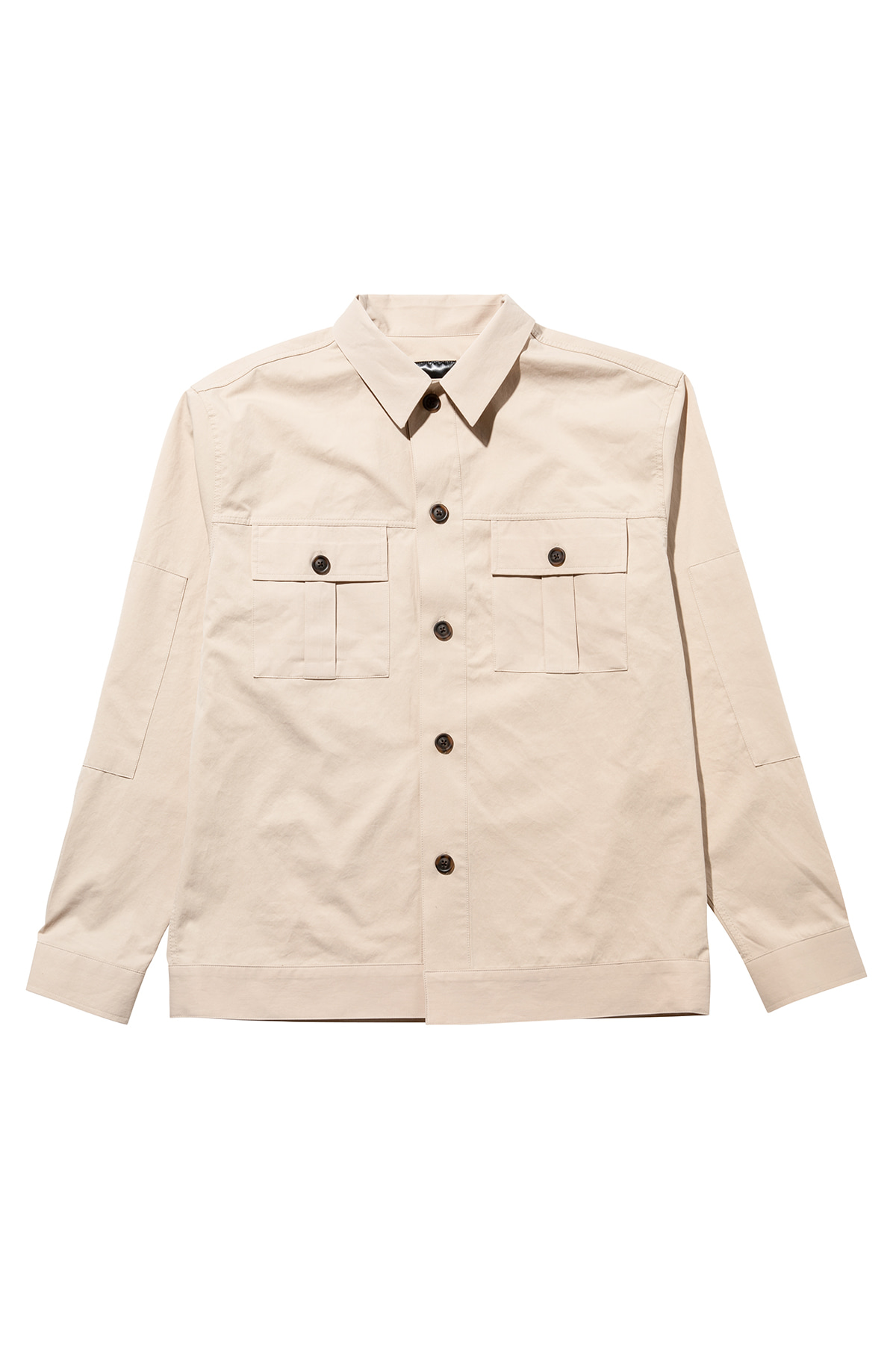 Fatigue pocket shirt jacket (beige) #jp36
