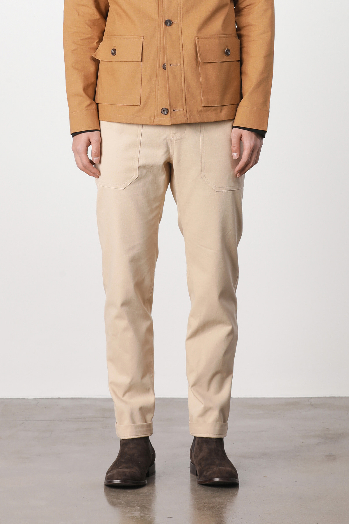 페이탈리즘 Fatigue relax cotton pants (beige) #jp09