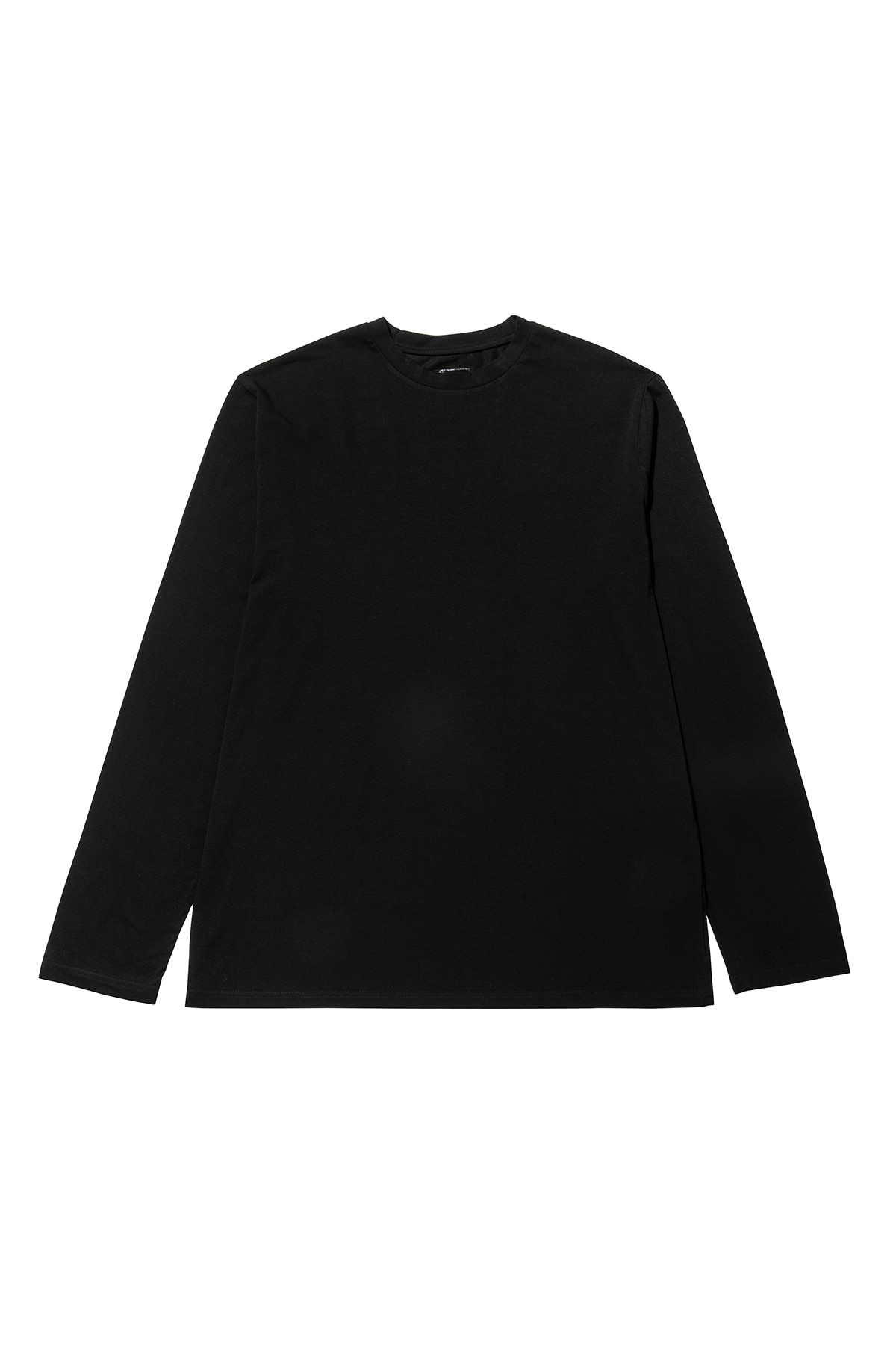 Pigment washing sleeve T-shirt (black) #jp27