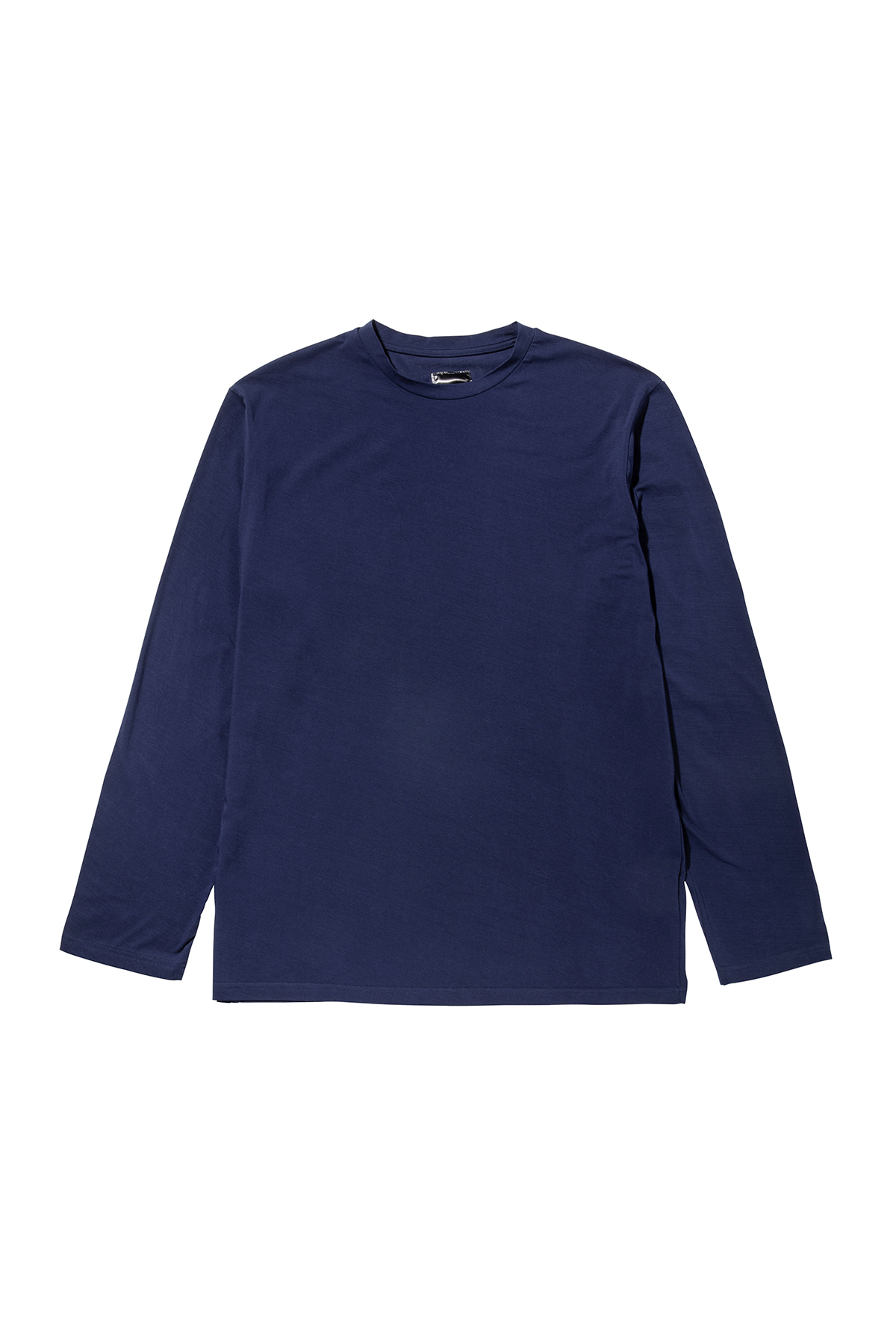 Pigment washing sleeve T-shirt (navy) #jp28