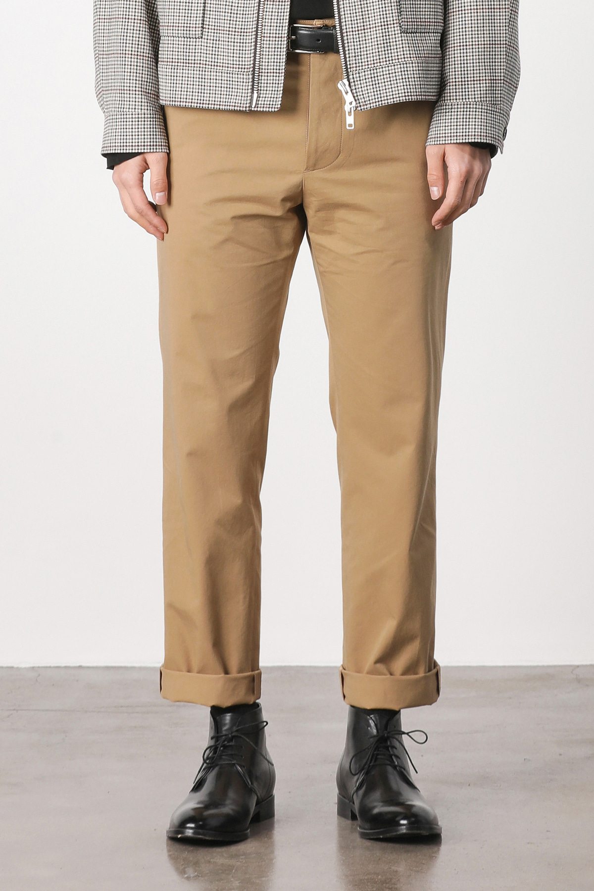 Edinburgh cotton crop pants (beige) #jp12