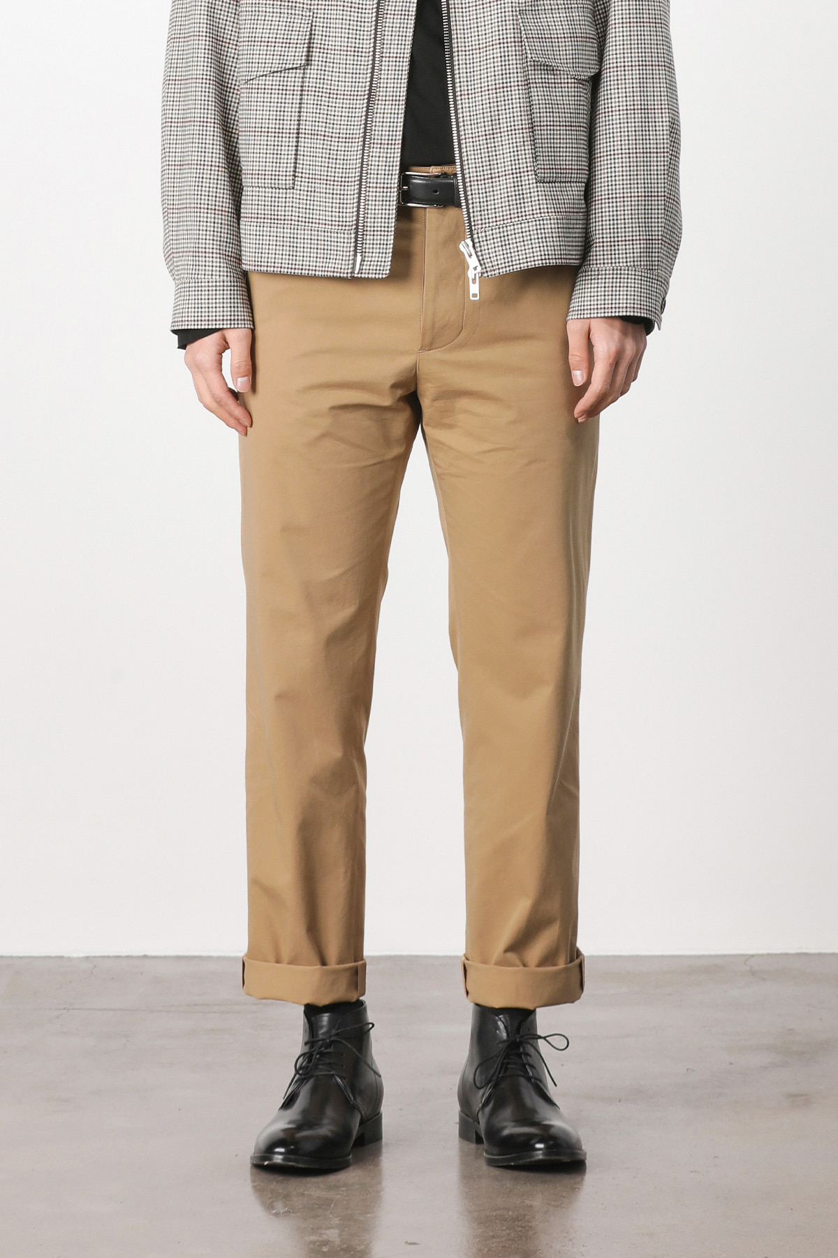 페이탈리즘 Edinburgh cotton crop pants (beige) #jp12