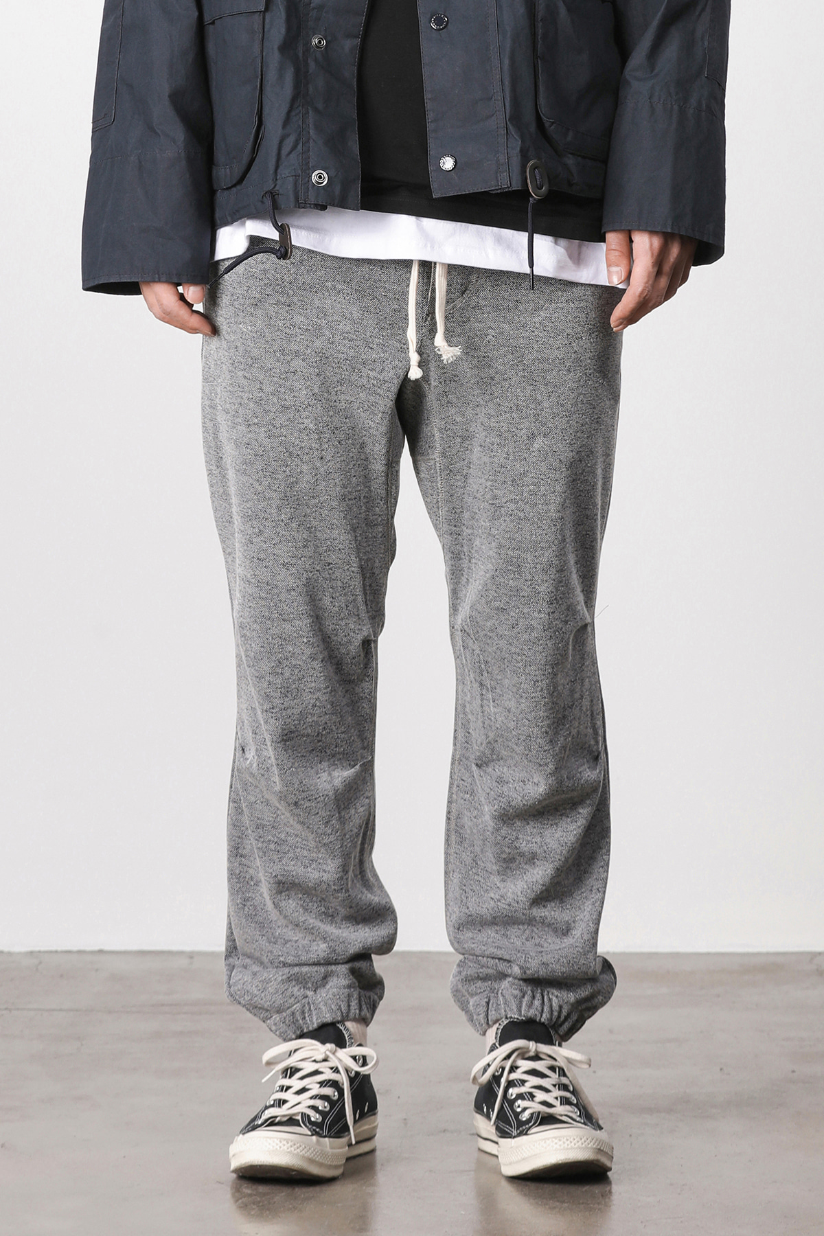 Melange training jogger pants (navy) #jp15
